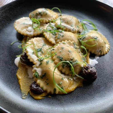 Ravioli and Sunchoke